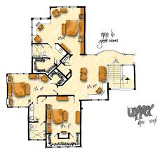 upper floor plan aurora 1006 4 bedrooms and 4 baths the house designers