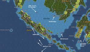 Batavia World Map by 1942 January 09