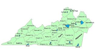 virginia county map with cities find services southwest virginia