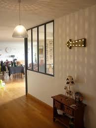 entree en cuisine cuisine avec verriere et bar pour idees de deco ouverte newsindo co