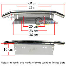 lexus ct200h license plate bulb chrome bull bar style bumper us license plate mount bracket holder