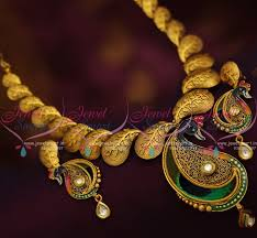 antique jewelry necklace images Nl7656 antique burnt gold finish fashion jewellery necklace JPG