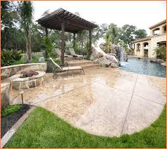 Backyard Stamped Concrete Ideas Stamped Concrete Patio Diy Home Design Ideas