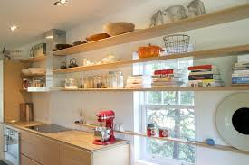 Glass Shelves For Kitchen Cabinets Glass Shelves In Front Of Window Kitchen Modern With Wood Shelves