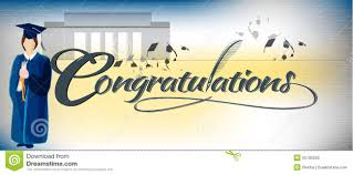 congratulations graduation banner congratulations text banner stock vector image 55790556