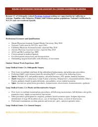 Physician Assistant Resume Templates Cover Letter Physician Resume Sles Physician Liaison Resume