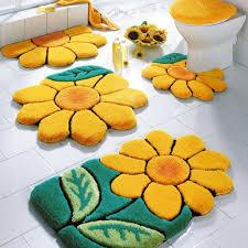 Sunflower Rugs Bathroom Planning Yellow Bathroom Rugs Round Yellow Bathroom