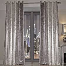 Button Top Curtains Curtains Awesome Silver Crushed Velvet Curtains Bespoke Crushed
