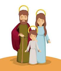 imagenes de jesucristo animado vinilo pixerstick maría josé y jesús icono de dibujos animados