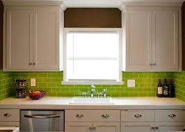 Green Kitchen Backsplash Tile Kitchen Design Green Subway Tile Kitchen Backsplash Ceramic