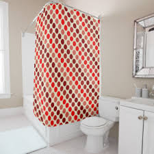 Red Polka Dot Curtains Polka Dot Background Shower Curtains Zazzle