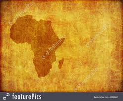 African Continent Map African Continent Grunge Background With Room For Text