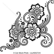 vector clip of flower ornament csp16837314 search