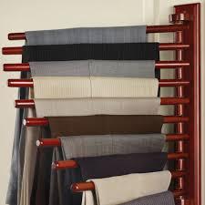 organizing shirts in closet the closet organizing trouser rack hammacher schlemmer