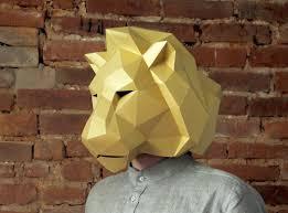 lion head big mask halloween mask diy papercraft pdf