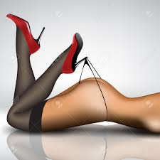 pin up women u0027s legs in stockings and shoes royalty free cliparts