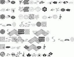 itc japanese garden ornaments regular premium font buy and