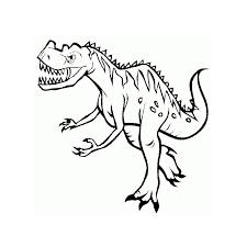 coloriage dinosaure tyrannosaure a imprimer gratuit