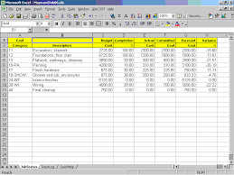 Excel Costing Template Cost Controller Spreadsheet For Excel