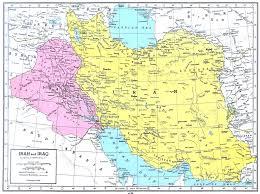 Map Iraq Iran U0026 Iraq Map 1949 Philatelic Database