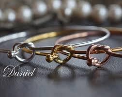 gold love knot bracelet images Love knot bracelet etsy jpg
