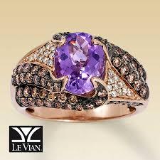 14k gold large diamond amethyst kay clearance le vian 14k gold diamond u0026 pink amethyst ring