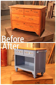 kitchen island made from dresser breathingdeeply