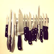 ikea knife magnet strip custom made knife block live edge natural