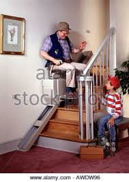 chair lift for disabled and elderly to climb stairs in a