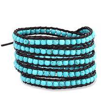 bead wrap bracelet leather images Turquoise beaded wrap bracelet eve 39 s addiction jpg