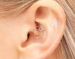 heart cartilage earring heart cartilage earring etsy