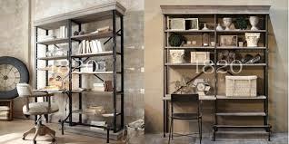 pipe desk with shelves american iron pipe wood desk combination bookcase bookcase creative