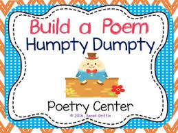 Humpty Dumpty Decorations Build A Poem Humpty Dumpty Pocket Chart Center By Sgriffink