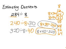 showme 4th grade 9 3 envision math estimating quotient
