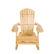 garden patio wooden adirondack rocking chair