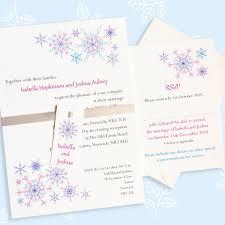 snowflake wedding invitations snowflake wedding invitation with rsvp the leaf press