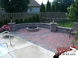 Brick Patio Design With Fire Pit And Seating Walls Firepit - Patio wall design