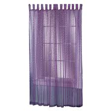 shop style selections icicle 84 in purple polyester top tab sheer
