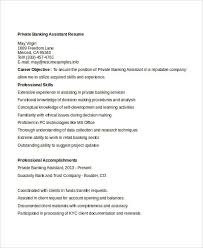 Private Banker Resume Sample by Simple Banking Resume 29 Free Word Pdf Documents Download