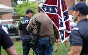 Black Guy With Confederate Flag N C Man In Confederate Uniform With Rifle In Emancipation Park