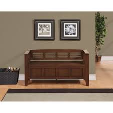 Wooden Entryway Bench Furniture Wooden Entryway Bench With Storage And Wall Decor Also