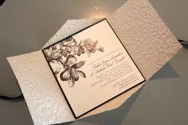 wedding invitations embossed flower garden embossed pochette wedding invitation