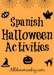 spanish halloween activities all done monkey