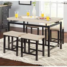 Modern Black Dining Room Sets by 5 Piece Delano Dining Set Natural Walmart Com