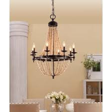 Wooden Chandelier Lighting Affordable And Adorable Farmhouse Lighting Get The Look For Less