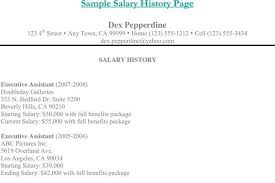 Resume With Salary History Example by Resume Template Download Free U0026 Premium Templates Forms