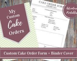 cake order cake order form etsy