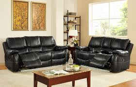 lynx collection 2 piece living room recliner sofa set with light