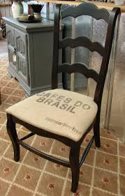 reclaimed french country ladderback ladder back accent burlap