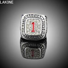 gifts for razorback fans lakone chions ring 1994 arkansas razorbacks sec national